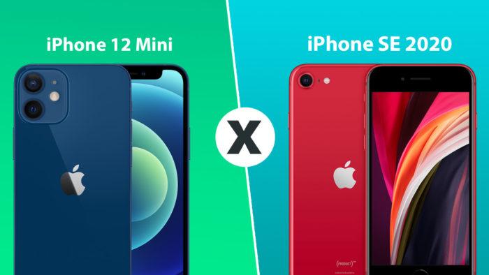Comparison: iPhone 12 Mini or iPhone SE 2020. (Image: Tecnoblog)
