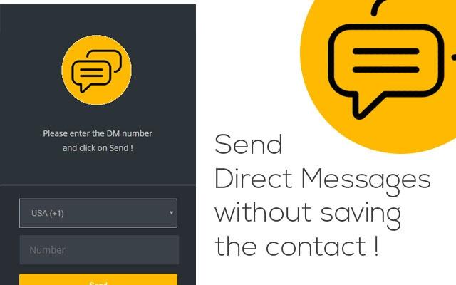 Plugin Direct Message para o WhatsApp Web (Imagem: Divulgação)