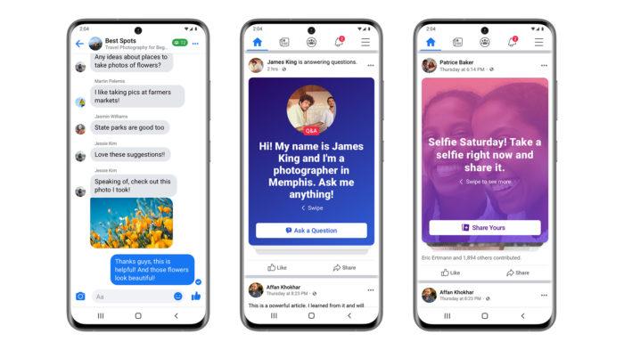 Grupos de Facebook terão conversas em tempo real, perguntas e respostas e Prompts