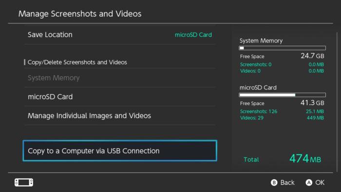 Transferir capturas do Switch para o PC (Imagem: Reprodução/Nintendo)