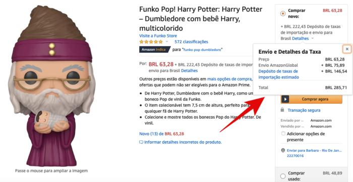 Como comprar na Amazon americana (Imagem:Reprodução/Amazon)