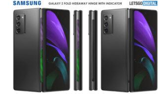 Samsung pode colocar tela na dobradiça do Galaxy Z Fold 3