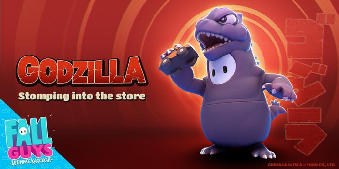 Godzilla traz destruição a Fall Guys (Imagem: Mediatonic)