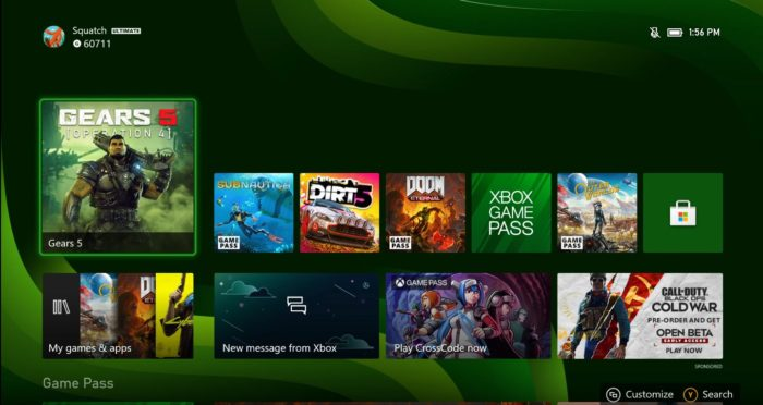 Xbox Series X shows interface working on the console (Image: Microsoft)
