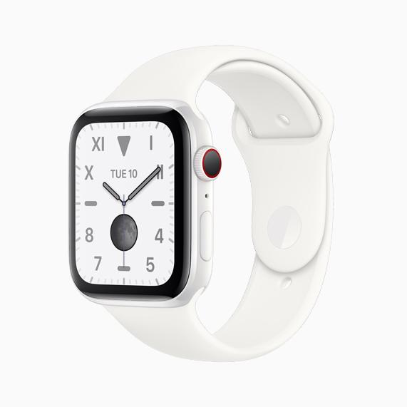 Apple Watch Series 5 em cerâmica branca