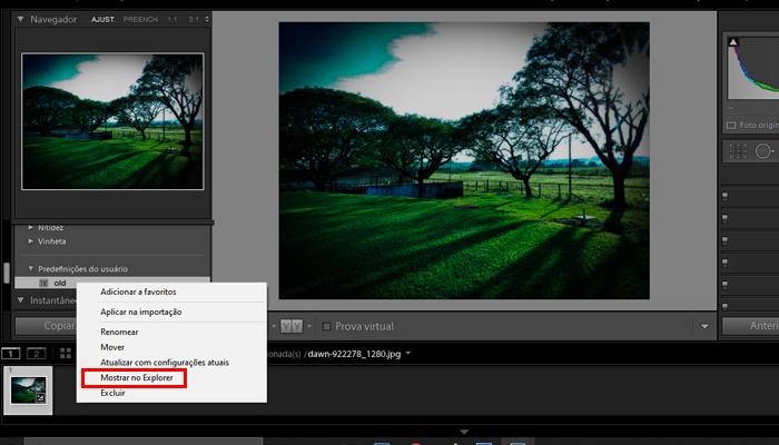 Como compartilhar presets do Lightroom (Imagem: Reprodução/Lightroom)