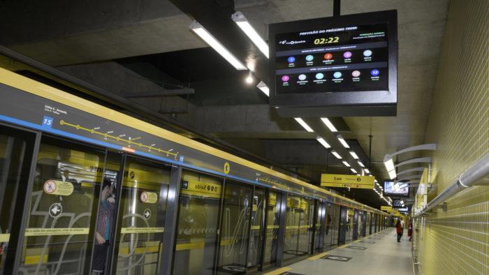 Estação da Linha 4-Amarela do metrô de São Paulo