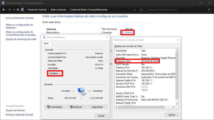 Propriedades de Rede do Windows (Imagem: Microsoft/Reprodução)