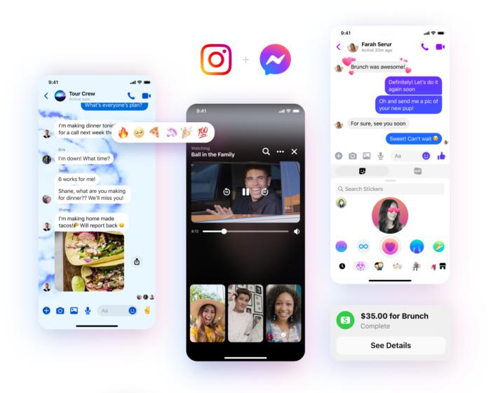 Novos recursos de personalização do Facebook Messenger. (Imagem: Divulgação/Facebook)