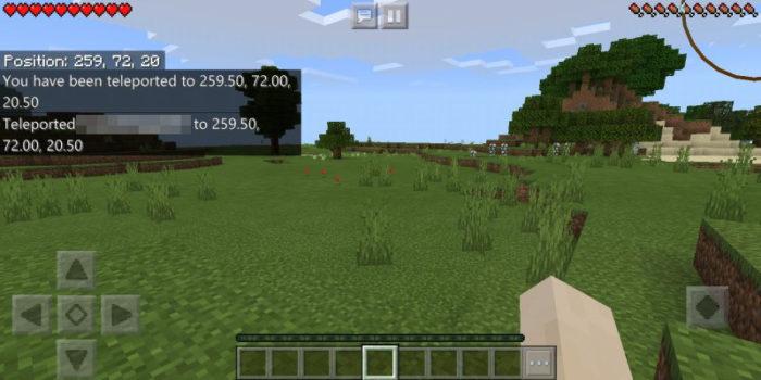 Comando TP no Minecraft (Imagem: Mojang/Microsoft Studios/Reprodução)