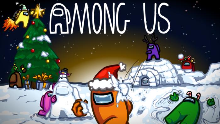 Jogadores podem desbloquear chapéus de Natal no Among Us (Imagem: Divulgação/InnerSloth)