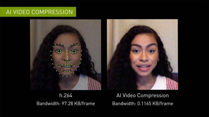 Nvidia Maxine - compressão