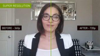 Nvidia Maxine usa IA para melhorar chamadas de vídeo