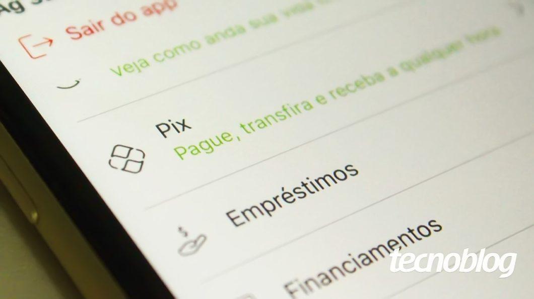 Pix em aplicativo (imagem: Emerson Alecrim/Tecnoblog)