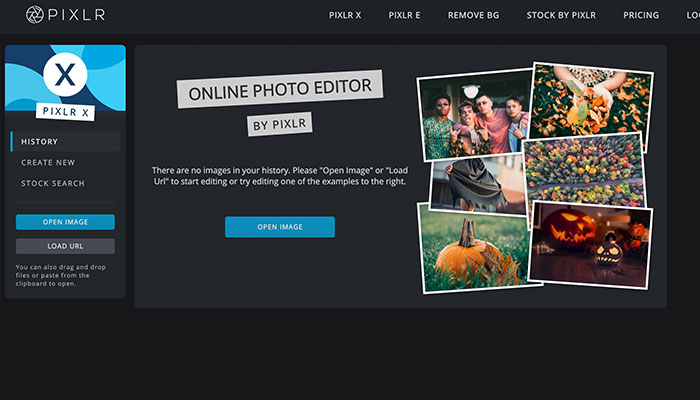 Pixlrx alternativa ao Adobe Photoshop