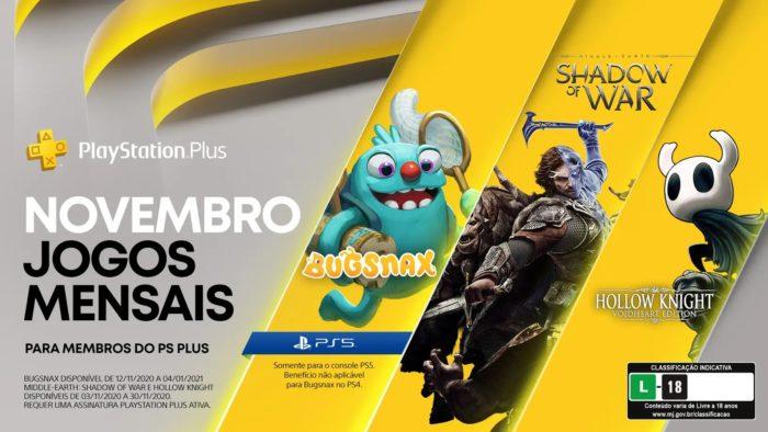 Jogos da PS Plus de novembro de 2020 (Imagem: Divulgação/PlayStation)