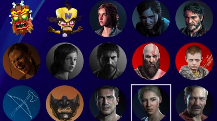 Alguns dos novos avatares do PS4 com o update 8.0 (Imagem: Felipe Vinha/Tecnoblog)