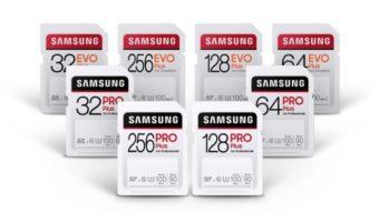 Pro Plus e Evo Plus são os novos cartões SD rápidos da Samsung