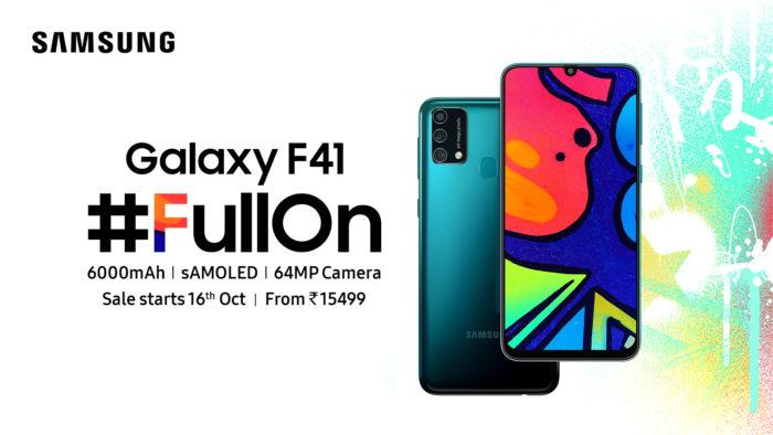Samsung Galaxy F41 (Imagem: Divulgação/Samsung)