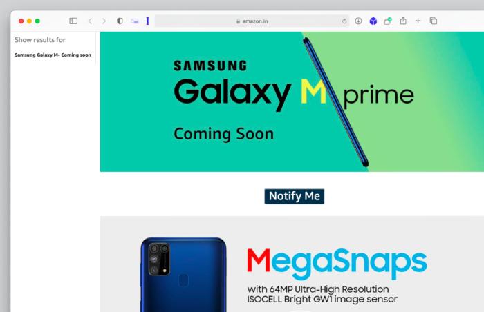 Teaser do Samsung Galaxy M31 Prime (Imagem: Reprodução/Tecnoblog)