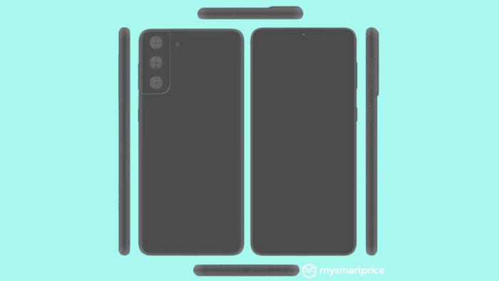 Renderizações do possível Samsung Galaxy S21+ (Imagem: Reprodução/MySmartPrice)