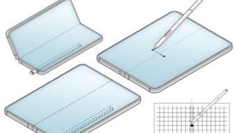 Samsung registra patente de celular Galaxy dobrável com S Pen