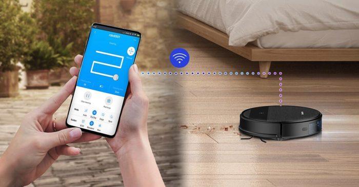 Robô aspirador da Samsung controlado pelo smartphone