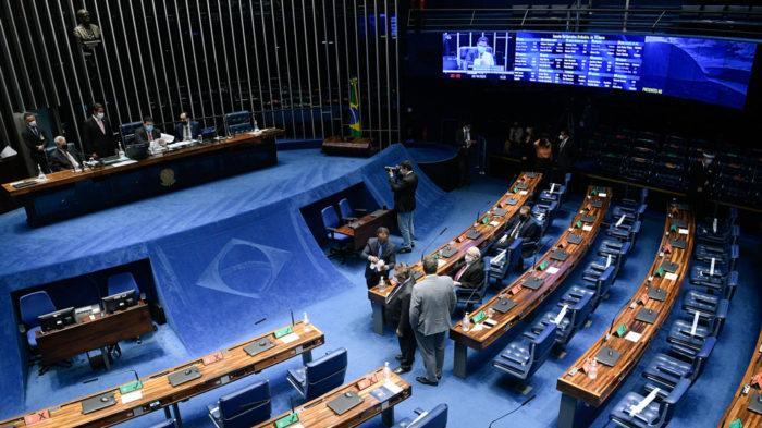 Senado aprovou conselho da ANPD em sessão semipresencial (Imagem: Pedro França/Agência Senado)