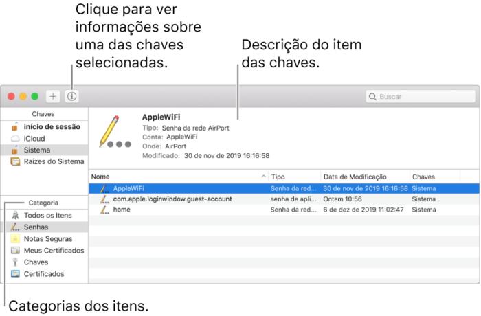 Acesso as senhas no macOS - Imagem: Divulgação/Apple
