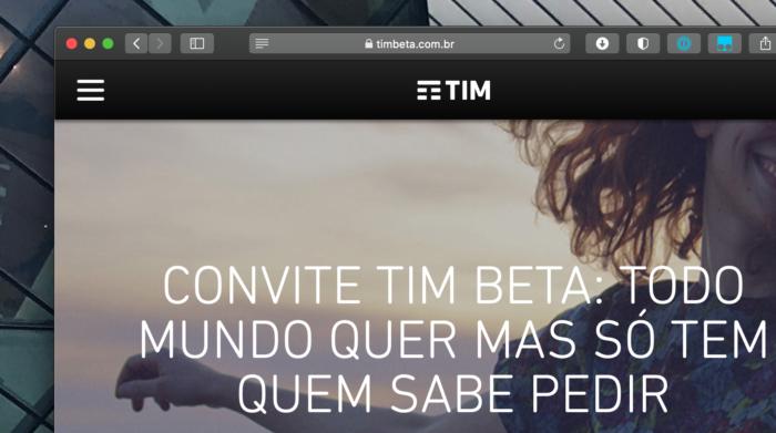 Planos de celular do TIM Beta. Imagem: Reprodução/Site TIM