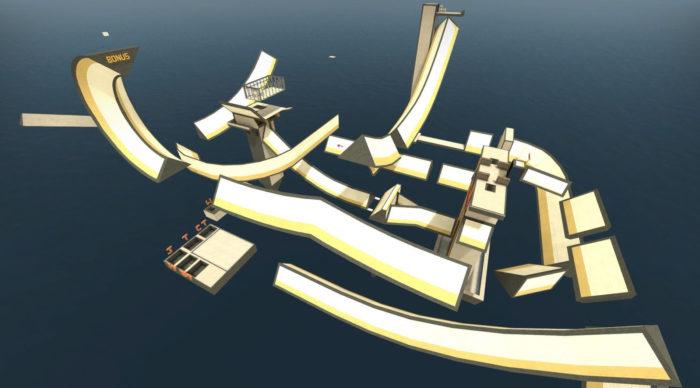 Mapa surf_ski_2_go de CS:GO (Imagem: Steam Workshop/Valve/Reprodução)