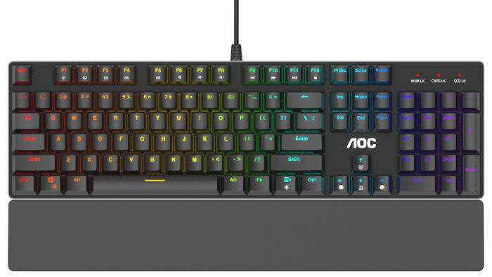 Teclado gamer AOC GK500 (Imagem: divulgação/AOC)