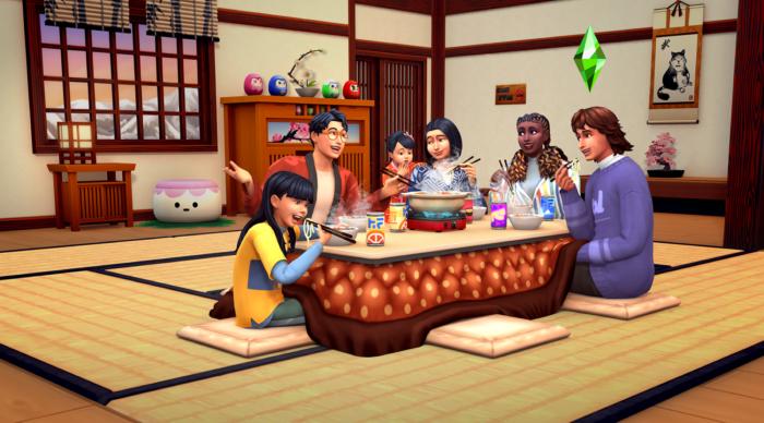 Pacote de expansão Diversão na Neve, de The Sims 4 (Imagem: Divulgação/EA)