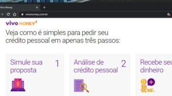 Vivo Money tem empréstimos de até R$ 30 mil para clientes da operadora