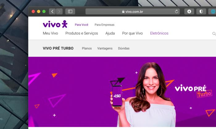 Vivo's mobile plans website
