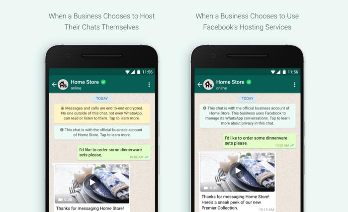 WhatsApp terá avisos diferentes de acordo com serviço usado por empresas (Imagem: Divulgação/WhatsApp)