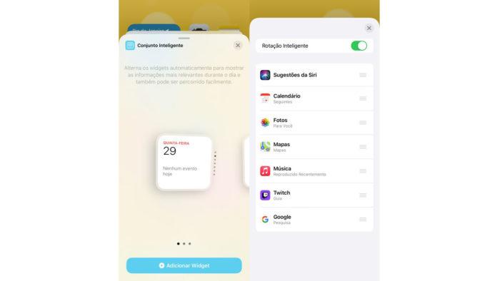 Como adicionar grupo inteligente de widgets no iOS 14