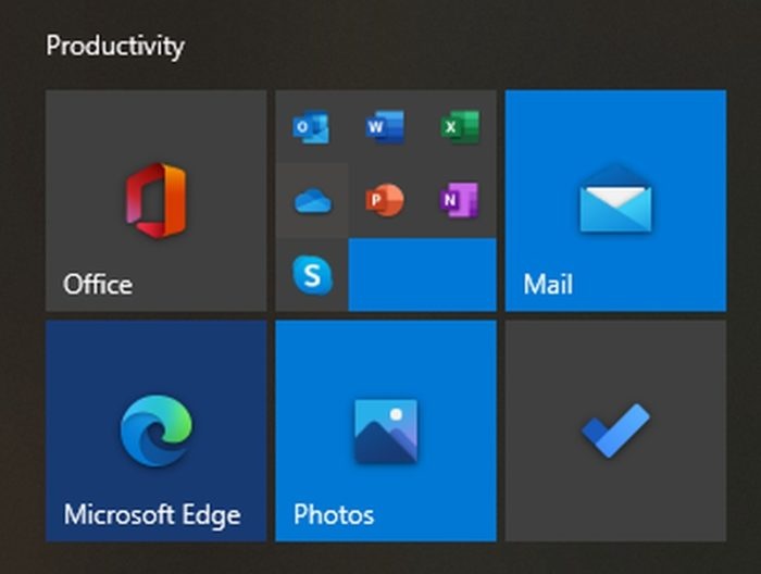 Web apps do Office no menu Iniciar do Windows 10 (Imagem: Reprodução/The Verge)
