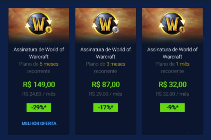 Novos Preços Das Assinaturas De Wow (Imagem: Blizzard)