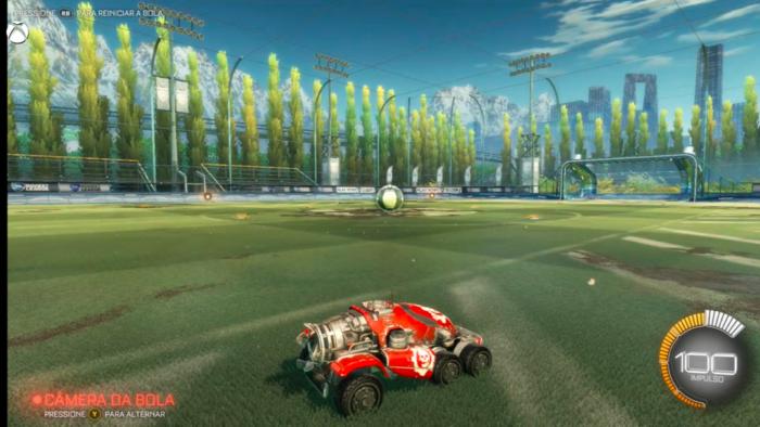 Rocket League rodando no Xbox One via streaming no teste do Tecnoblog (Imagem: Felipe Vinha/Tecnoblog)