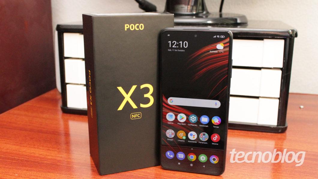 Poco X3 (imagem: Tecnoblog/Emerson Alecrim)