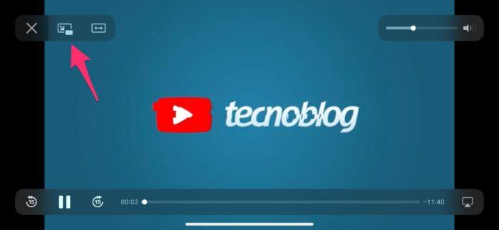 Saiba como ativar o modo PiP no YouTube via Safari pelo iOS 14 (Imagem: Reprodução/Tecnoblog)