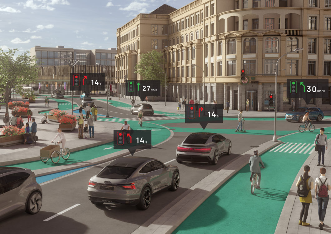 The city of the future with autonomous cars (Image: Press Release / Audi)