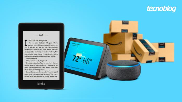 Kindle, Echo e outros produtos da Amazon estão em promoção (Imagem: Vitor Pádua/Tecnoblog)