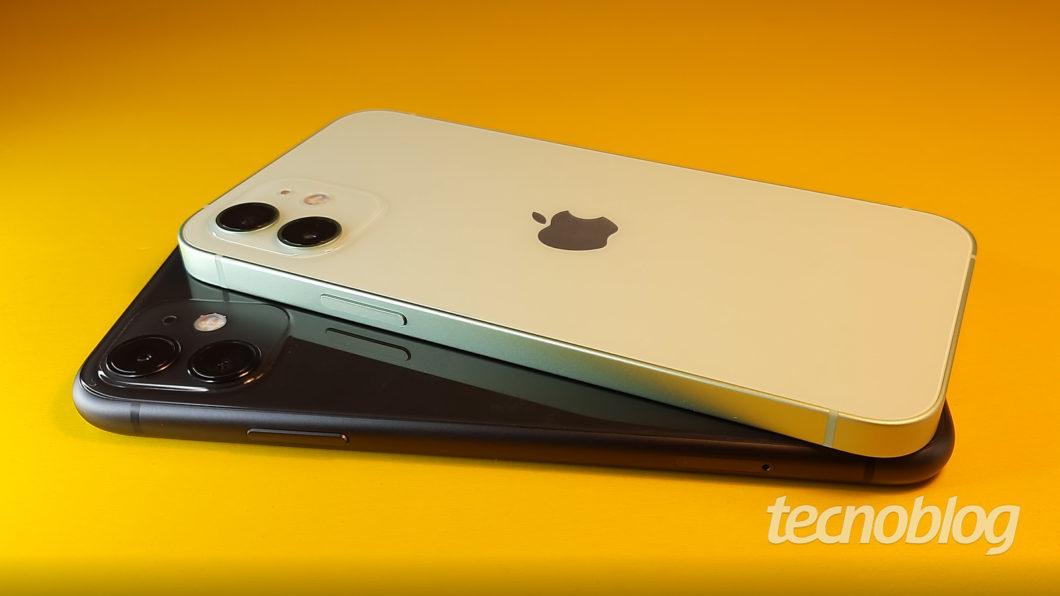 iPhone 11 e iPhone 12 (Imagem: Darlan Helder/Tecnoblog)