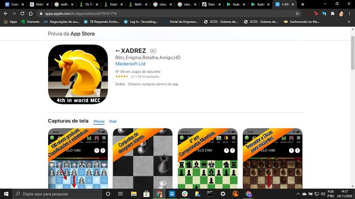 Xadrez para iOS (Imagem: App store/Reprodução)