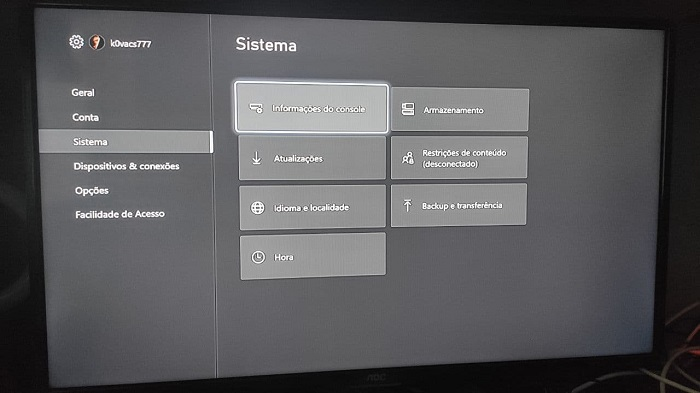 Resetando Xbox One (Imagem: Leandro Kovacs/Tecnoblog)