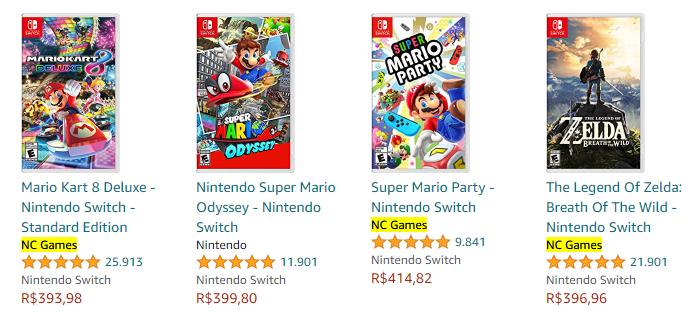 NC Games é mencionada na Loja Nintendo (Imagem: Reprodução / Amazon)