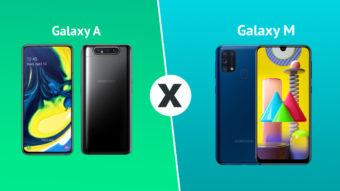 Linhas Samsung Galaxy A ou M; qual comprar?