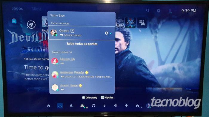 PS5 game hub